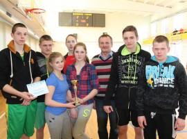 Varžybų nugalėtojai - Leliūnų pagrindinės mokykos komanda